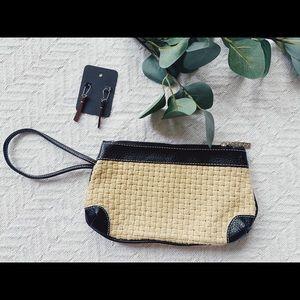 Braided Clutch w/Faux Leather Detail - Like New!